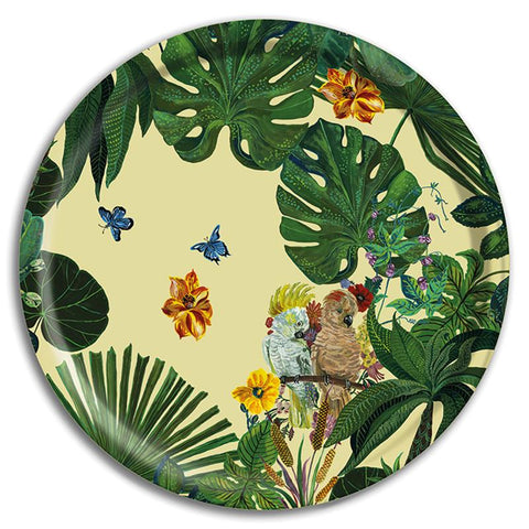 Nathalie Lete Cockatoo Birchwood Tray Large
