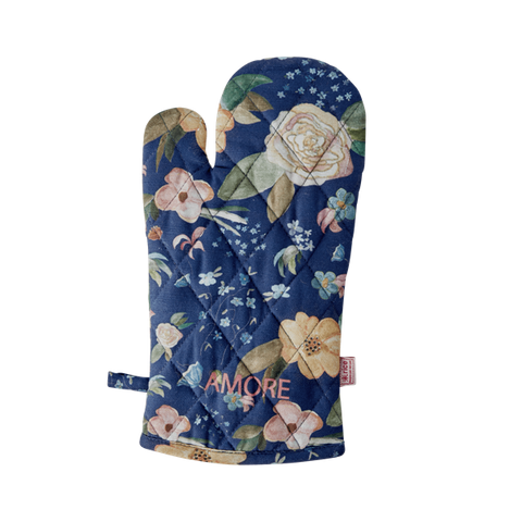 Cotton Oven Mitt with Selma's Fall Flower Print