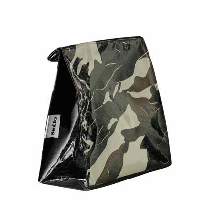 Oilcloth Lunchbag in Camouflage Black