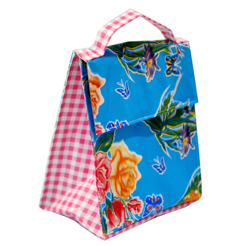 Insulated Lunchbag Blue Butterfly