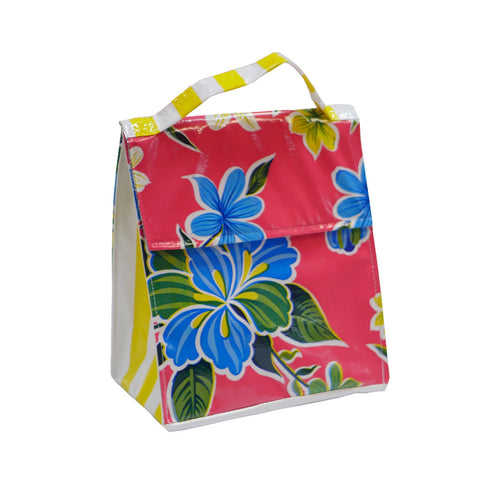 Insulated Lunchbag Pink Hibiscus
