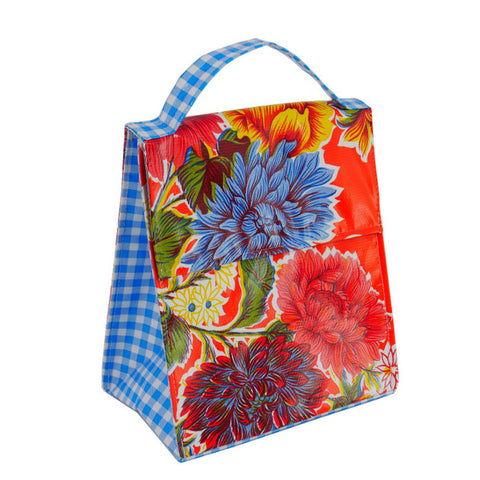 Insulated Lunchbag Orange Mums