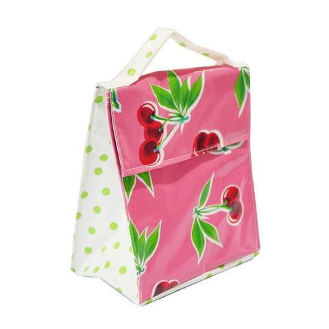 Insulated Lunchbag Pink Cherries