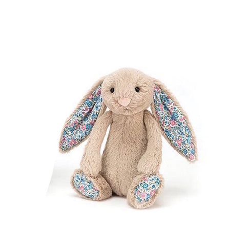 Small Bashful Blossom Floral Beige Bunny