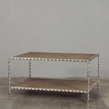 Toulouse Coffee Table Silver Twist Dark Rattan