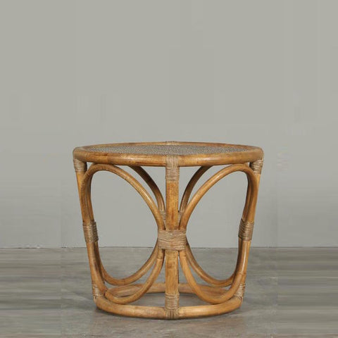 Riviera Round Side Table Dark Rattan