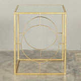 Juliette Gold Mirrored Side Table