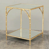Enzo Mirrored Gold Side Table