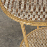 Toulouse Rattan Oval Side Table