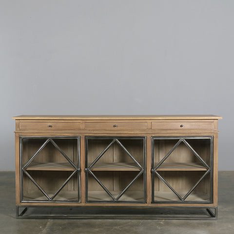 Claude Sideboard in Natural with Glass Doors