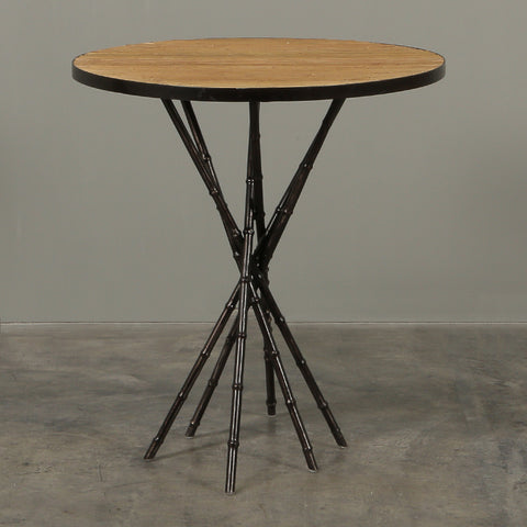 Enzo Round Side Table Bamboo Top