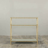 Toulouse Mirrored Console Table Gold Twist
