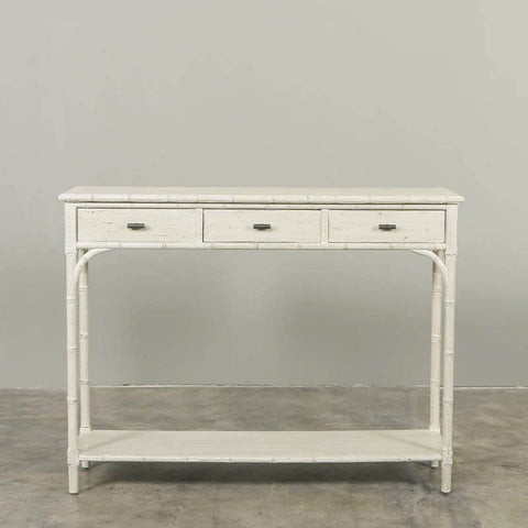 Torino Three Drawer Console Table Vintage Cream