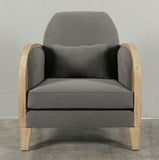 Bayonne Armchair in Charcoal