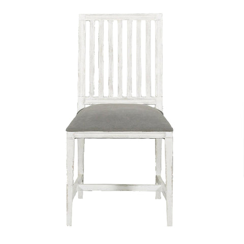 Laverne Occasional Chair Antique White Grey Upholstery