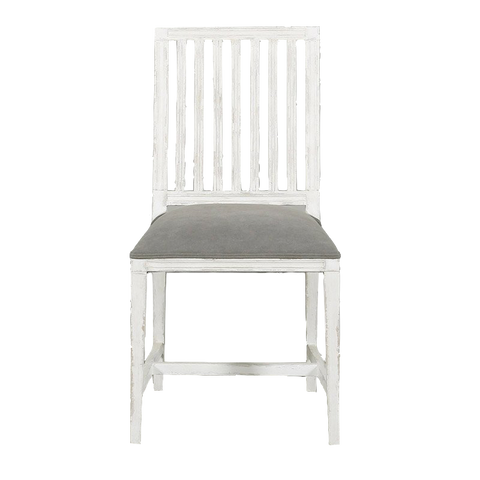 Laverne Dining Chair Vintage Cream with Beige Cotton Upholstery