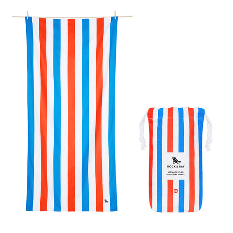 Poolside Parties Beach Towel  Xl 100% Recycled