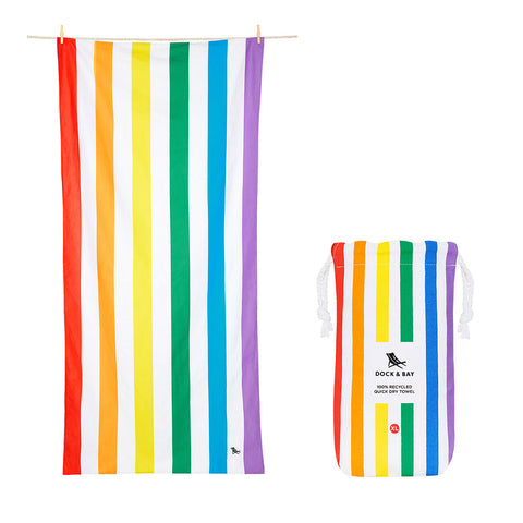 Rainbow Skies Beach Towel  Xl 100% Recycled