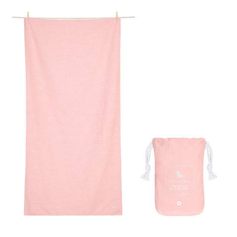 Small Fitness Towel - Lagoon Pink 100% Recycled Dock & Bay