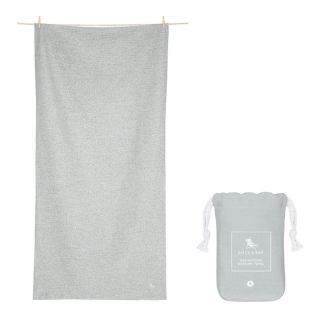 Mountain Grey Fitness Towel - Small 100% Recycled