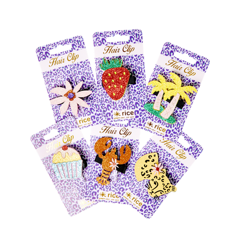 Hair Clip in 6 Assorted Designs