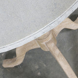 Caledonia Round Side Table Ash and Zinc Top