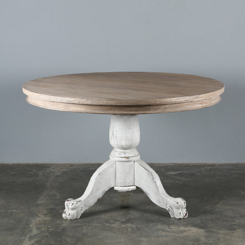Beaufort Round Dining Table Blanc + Natural PRE ORDER JANUARY 2020