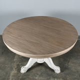 Beaufort Round Dining Table 160 cm Blanc + Natural