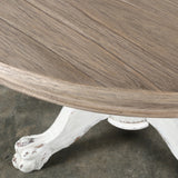 Beaufort Round Dining Table Blanc + Natural