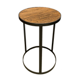 Moreton Bay Round Side Table Bamboo Top