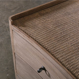 Charles Chest of Drawers in Washed Timber/Rattan