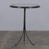 Elio Mirrored Side Table Black