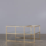 Lille Mirrored Gold Coffee Table