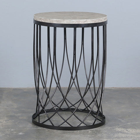 Round Iron Lace Side Table