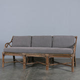 Abaca Cane Sofa Natural