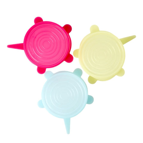 Silicone Lid for Small Melamine Bowl in 3 Assorted Colours