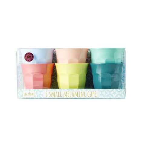 Small Melamine Curved Cup in 6 Assorted SHINE Colours