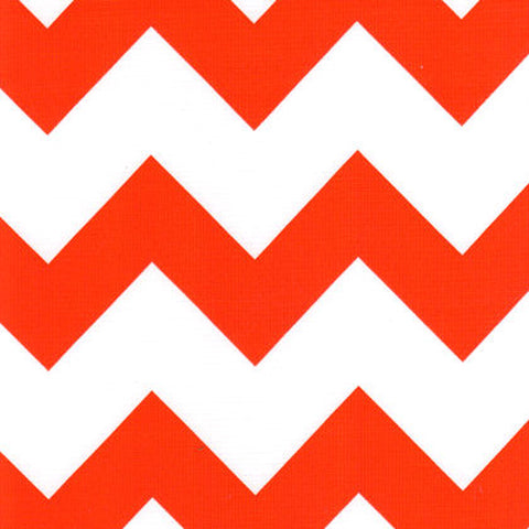 Orange Chevron Oilcloth