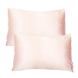 Set of Two Silk Pillowcases Pink