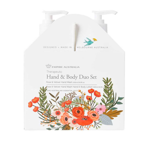 Therapeutic Rose & Vetiver Hand/Body Care Duo 500ml