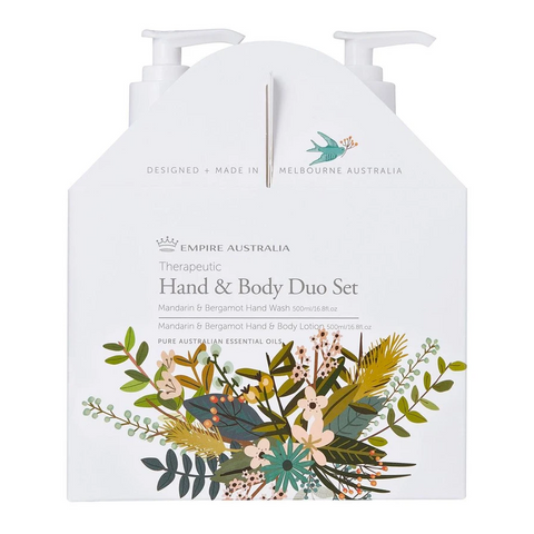 Therapeutic Mandarin & Bergamot Hand/Body Care Duo Set 500ml