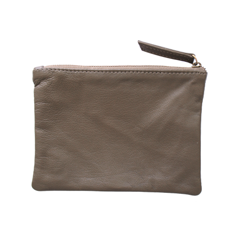 Corner Store Moccha Leather Zip Purse