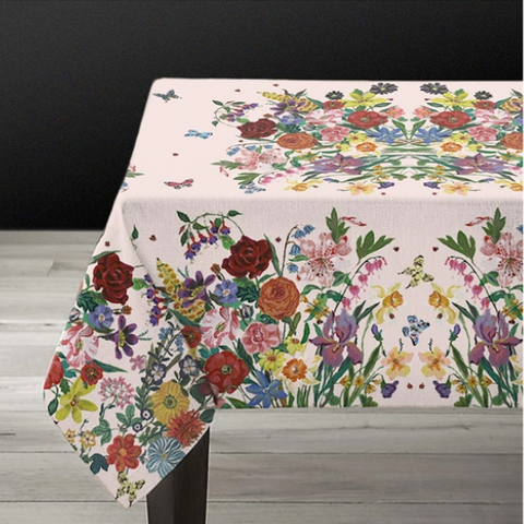 Nathalie Lete Garland Kitchen Tablecloth Pink Medium