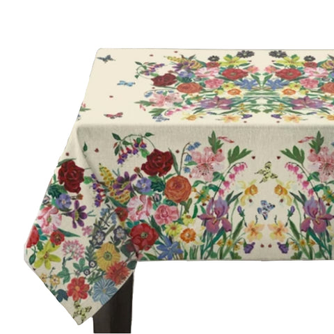 Nathalie Lete Garland Kitchen Tablecloth Cream Medium
