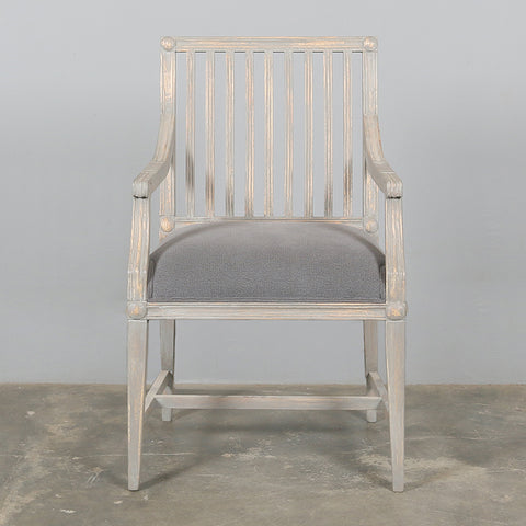 Vernon Armchair Washed Grey