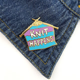 Knit happens Lapel Pin