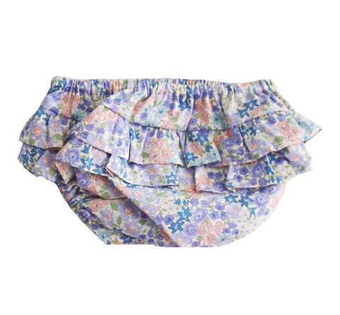 Ruffle Bloomers Liberty Blue MEDIUM 6-12 months