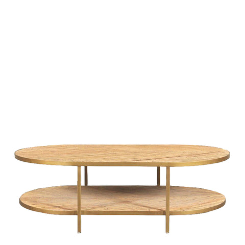 Aubusson Oval Coffee Table Bamboo Top