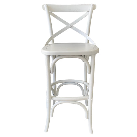 Croix Bar Stool White Finish