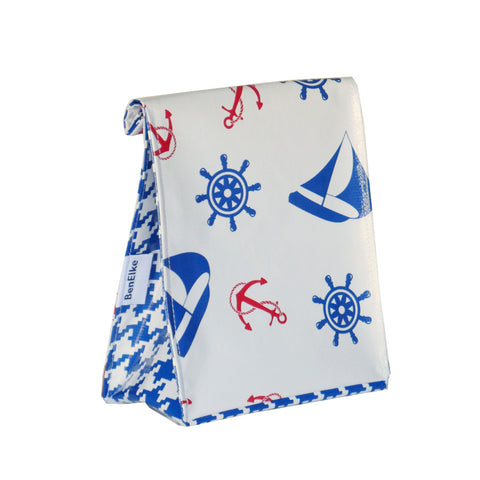 Oilcloth Lunchbag in Nautical Blue